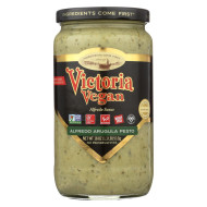 Victoria Vegan Sauce - Alfredo Arugula Pesto - Case of 6 - 18 Fl oz.