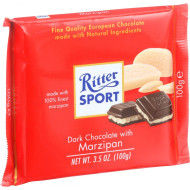 Ritter Sport Chocolate Bar - Dark Chocolate - Marzipan - 3.5 Oz Bars - Case Of 12