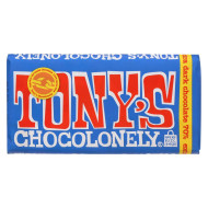 Tony's Chocolonely Bar - Extra Dark Chocolate - Case of 15 - 6 oz.