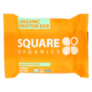 Square Organics Organic Protein Bar - Chocolate Coated Peanut Butter - Case of 12 - 1.7 oz