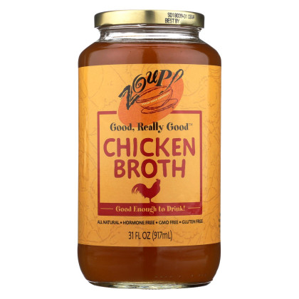 Zoup! Good - Really Good Broth - Chicken - Case of 6 - 31 fl oz