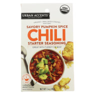Urban Accents Spice - Chili Starter Seasoning - Savory Pumpkin Spice Organic - Case Of 6 - 1 Oz