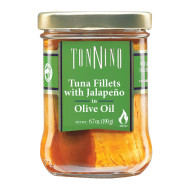 Tonnino Tuna Fillets - Jalapeno, Olive Oil - Case Of 6 - 6.7 Oz.