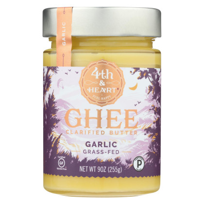 4th and Heart Ghee - Garlic - Case of 6 - 9 oz