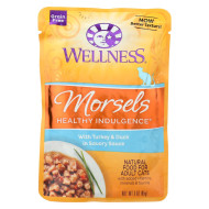 Wellness Pet Products Cat Food - Morsels with Turkey and Duck In Savory Sauce - Case of 24 - 3 oz.