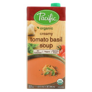 Pacific Natural Foods Tomato Basil Soup - Creamy - Case of 12 - 32 Fl oz.