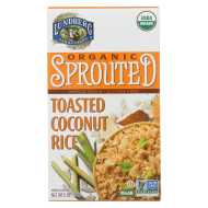 Lundberg Family Farms Organic Sprouted Rice - Toasted Coconut - Case Of 6 - 6 Oz