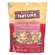 Back To Nature Cashew Almond Pistachio Mix - Case Of 9 - 9 Oz.