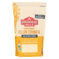 Arrowhead Mills Organic Yellow Corn Meal - Gluten Free - Case of 6 - 22 oz.