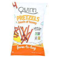 Quinn Popcorn Pretzels - Touch Of Honey - Case Of 8 - 7 Oz
