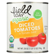Field Day Organic Tomatoes - Diced - Case of 12 - 28 oz