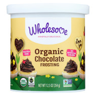 Wholesome Sweeteners Organic Frosting - Chocolate - Case of 6 - 12.5 oz