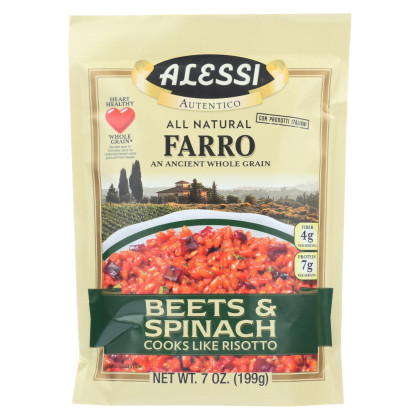 Alessi Farro Beets and Spinach - Case of 6 - 7 Oz