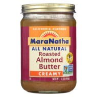 Maranatha Natural Foods Roasted Almond Butter -Creamy With No Salt - Case Of 6 - 16 Oz