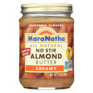 Maranatha Natural Foods Almond Butter - Creamy No Stir - Case Of 6 - 12 Oz