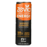 Zevia Zero Calorie Energy Drink - Mango/Ginger - Case Of 12 - 12 Fl Oz