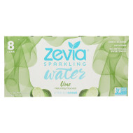 Zevia Sparkling Water - Lime - Case Of 3 - 8/12 Fl Oz