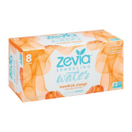 Zevia Sparkling Water - Mandarin Orange - Case Of 3 - 8/12 Fl Oz