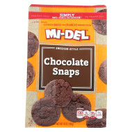 Midel Cookies - Chocolate Snaps - Case Of 8 - 10 Oz