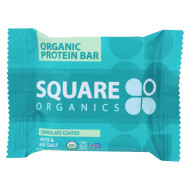 Square Organics Organic Protein Bar - Chocolate Coated Nuts & Sea Salt - Case of 12 - 1.6 oz