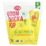 Angie's Kettle Corn Popcorn - Boomchickapop - Sea Salt - Case of 4 - 6/.6 oz
