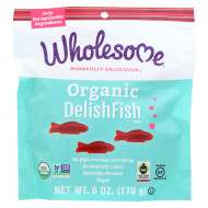 Wholesome! Organic Candy - Delish Fish - Case of 6 - 6 oz