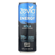 Zevia Zero Calorie Energy Drink - Cola - Case of 12 - 12 fl oz