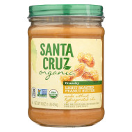 Santa Cruz Organic Organic Peanut Butter - Light Roast Crunchy - Case of 6 - 16 oz