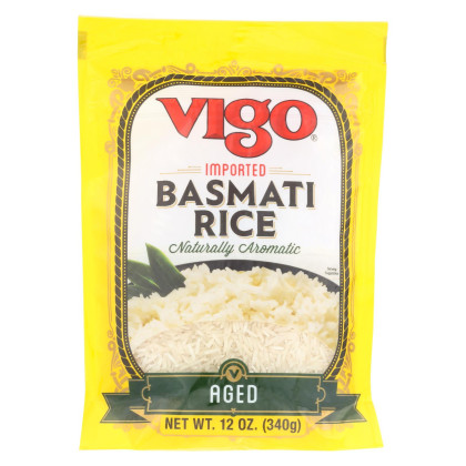 Vigo Rice - Basmati - Case of 6 - 12 oz