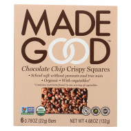 Made Good Crispy Squares - Chocolate Chip - Case Of 6 - 4.68 Oz.