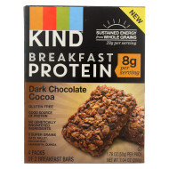Kind Breakfast Protein Bars - Dark Chocolate Cocoa - Case of 8 - 4/1.76oz