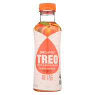 Treo Birch Water Beverage - Peach Mango - Case of 12 - 16 fl oz.