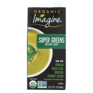 Imagine Foods Soup - Organic - Super Greens - Soup - Case Of 12 - 32 Fl Oz