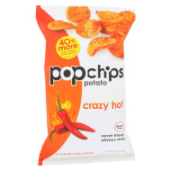 Popchips Potato Chip - Crazy Hot - Case Of 12 - 5 Oz
