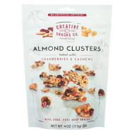 Creative Snacks Almond Clusters - Cranberry Cashew - Case Of 12 - 4 Oz