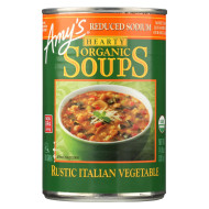 Amy'S Soup Organic Hearty Rustic Italian Vegetable - Case Of 12 - 14 Oz