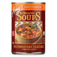 Amy'S Soup Organic Fire Roasted Southwestern Vegetable - Case Of 12 - 14.3 Oz