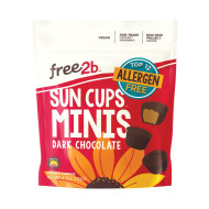 Free 2 B Sun Cups - Mini - Dark Chocolate - Case Of 6 - 4.2 Oz