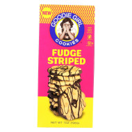 Goodie Girl Cookies - Cookies - Fudge Striped - Case Of 6 - 7 Oz.