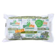 Gimme Seaweed Snacks Seaweed Snack - Organic - Extra Virgin Olive Oil - Case Of 8 - 6/.17 Oz