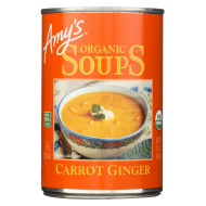 Amy'S Soup Organic Carrot Ginger - Case Of 12 - 14.2 Oz