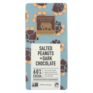 Endangered Species Chocolate Bar - Salted Peanuts And Dark Chocolate - Case Of 12 - 3 Oz.