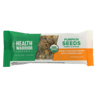 Health Warrior Pumpkin Seed Bar - Honey Cracked Pepper With Turmeric - Case of 12 - 1.23 oz.