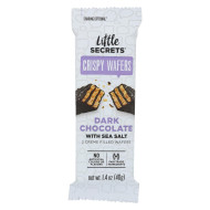 Little Secrets Crispy Wafer - Dark Chocolate With Sea Salt - Case Of 12 - 1.4 Oz.