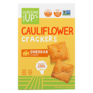 From The Ground Up Crackers - Cauliflower Cheddar - Case Of 6 - 4 Oz.