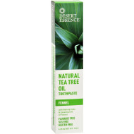 Desert Essence Natural Tea Tree Oil Toothpaste Fennel - 6.4 Oz