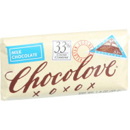 Chocolove Xoxox Premium Chocolate Bar - Milk Chocolate - Pure - Mini - 1.3 Oz Bars - Case Of 12