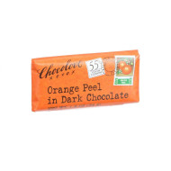 Chocolove Xoxox Premium Chocolate Bar - Dark Chocolate - Orange Peel - Mini - 1.2 Oz Bars - Case Of 12
