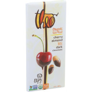 Theo Chocolate Organic Chocolate Bar - Classic - Dark Chocolate - 70 Percent Cacao - Cherry And Almond - 3 Oz Bars - Case Of 12