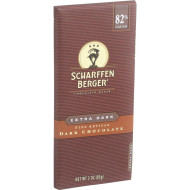 Scharffen Berger Chocolate Bar - Dark Chocolate - 82 Percent Cacao - Extra Dark - 3 Oz Bars - Case Of 12